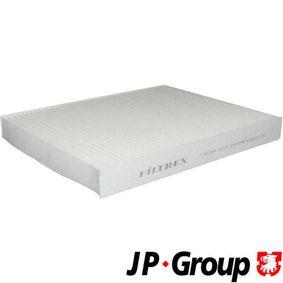 JP GROUP Filter, Innenraumluft 1128101100 für AUDI Q7 (4L) 3.0 TDI ab Baujahr 11.2007, 240 PS