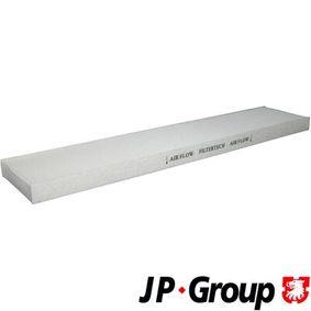 Filter, Innenraumluft Länge: 536mm, Breite: 110mm, Höhe: 26mm mit OEM-Nummer 95VW-19N-551-AA