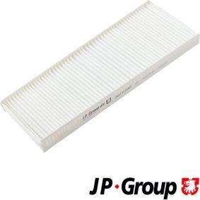 JP GROUP Filter, Innenraumluft 1128101400 für AUDI 80 (8C, B4) 2.8 quattro ab Baujahr 09.1991, 174 PS