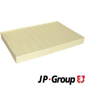 JP GROUP Filter, Innenraumluft 1128101500 für AUDI A6 (4B2, C5) 2.4 ab Baujahr 07.1998, 136 PS