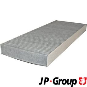 JP GROUP Filter, Innenraumluft 1128101800 für AUDI COUPE (89, 8B) 2.3 quattro ab Baujahr 05.1990, 134 PS