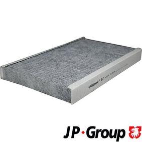 JP GROUP Filter, Innenraumluft 1128102000 für AUDI A6 (4B2, C5) 2.4 ab Baujahr 07.1998, 136 PS