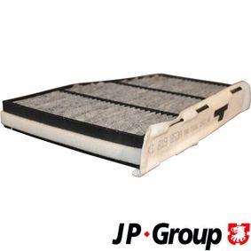 Filter, Innenraumluft Länge: 288mm, Breite: 215mm, Höhe: 34mm mit OEM-Nummer 1K1819653B