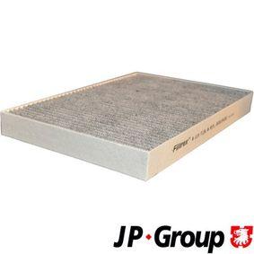 JP GROUP Filter, Innenraumluft 1128102400 für AUDI A4 Cabriolet (8H7, B6, 8HE, B7) 3.2 FSI ab Baujahr 01.2006, 255 PS