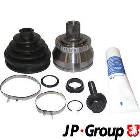 Antriebswellengelenk VW PASSAT Variant (3B6) 1.9 TDI 130 PS ab 11.2000 JP GROUP Gelenksatz, Antriebswelle (1143301810) für