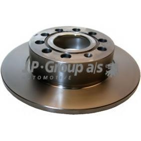 JP GROUP Bremsscheibe 1163200700 für AUDI A3 (8P1) 1.9 TDI ab Baujahr 05.2003, 105 PS