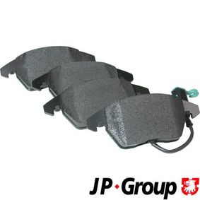 Turboladerdichtung für VW TOURAN (1T1, 1T2) 1.9 TDI 105 PS ab Baujahr 08.2003 JP GROUP Bremsbelagsatz, Scheibenbremse (1163601110) für