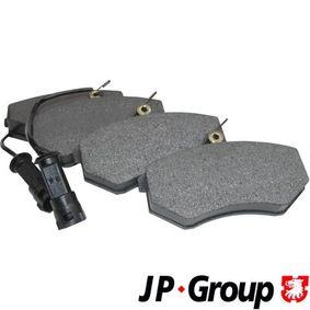 JP GROUP Bremsbelagsatz, Scheibenbremse 1163602310 für AUDI 100 (44, 44Q, C3) 1.8 ab Baujahr 02.1986, 88 PS