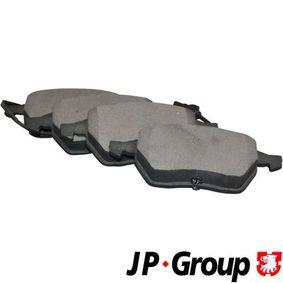 Batería VW PASSAT Variant (3B6) 1.9 TDI de Año 11.2000 130 CV: Juego de pastillas de freno (1163602510) para de JP GROUP