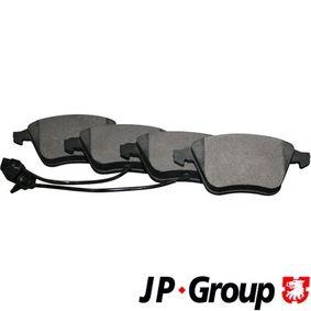 JP GROUP Bremsbelagsatz, Scheibenbremse 1163607010 für AUDI A4 Cabriolet (8H7, B6, 8HE, B7) 3.2 FSI ab Baujahr 01.2006, 255 PS