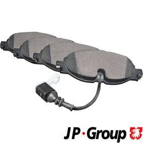 Brake Pad Set, disc brake Thickness: 20,3mm with OEM Number 5Q0 698 151 G