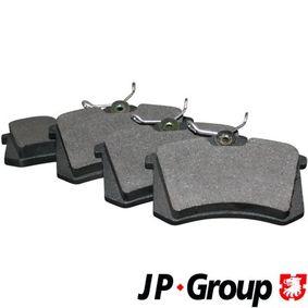 JP GROUP Bremsbelagsatz, Scheibenbremse 1163705310 für AUDI A6 (4B2, C5) 2.4 ab Baujahr 07.1998, 136 PS