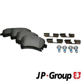 JP GROUP Bremsbelagsatz, Scheibenbremse 1163705410 für AUDI A4 Cabriolet (8H7, B6, 8HE, B7) 3.2 FSI ab Baujahr 01.2006, 255 PS