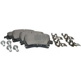 Bremsbelagsatz, Scheibenbremse Dicke/Stärke: 17,2mm mit OEM-Nummer 1K0 698 451H