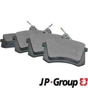 JP GROUP Bremsbelagsatz, Scheibenbremse 1163705810 für AUDI 80 (8C, B4) 2.8 quattro ab Baujahr 09.1991, 174 PS