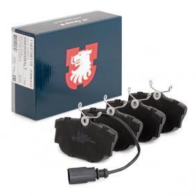 Motorhalter für VW TRANSPORTER IV Bus (70XB, 70XC, 7DB, 7DW) 2.5 TDI 102 PS ab Baujahr 09.1995 JP GROUP Bremsbelagsatz, Scheibenbremse (1163706110) für