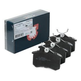 Jogo de pastilhas para travão de disco Espessura: 17,2mm com códigos OEM 1H0615415