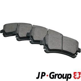 JP GROUP Bremsbelagsatz, Scheibenbremse 1163706510 für AUDI A4 (8E2, B6) 1.9 TDI ab Baujahr 11.2000, 130 PS