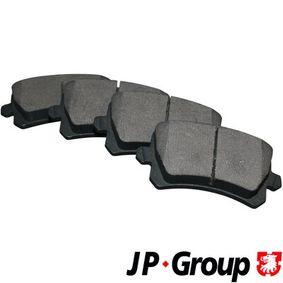 JP GROUP Bremsbelagsatz, Scheibenbremse 1163706610 für AUDI A3 (8P1) 1.9 TDI ab Baujahr 05.2003, 105 PS