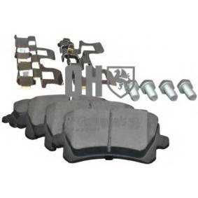 Bremsbelagsatz, Scheibenbremse Dicke/Stärke: 17,2mm mit OEM-Nummer 3C0 698 451F