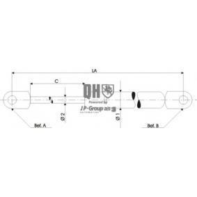 Heckklappendämpfer / Gasfeder Länge über Alles: 593mm, Hub: 200mm mit OEM-Nummer 1094814