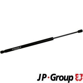 Touran 1T1, 1T2 2.0FSI Heckklappendämpfer JP GROUP 1181204900 (2.0 FSI Benzin 2003 AXW)