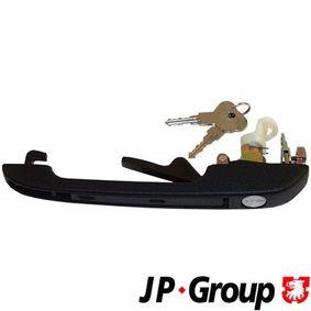 JP GROUP Türgriff 1187102280 für AUDI 80 (81, 85, B2) 1.8 GTE quattro (85Q) ab Baujahr 03.1985, 110 PS