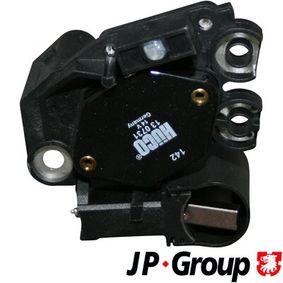 JP GROUP Generatorregler 1190201202 für AUDI A4 (8E2, B6) 1.9 TDI ab Baujahr 11.2000, 130 PS