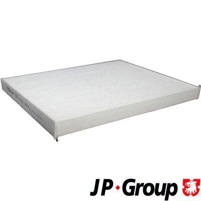 JP GROUP  1228101300 Filter, Innenraumluft Länge: 265mm, Breite: 215mm, Höhe: 21mm