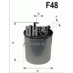 Kraftstofffilter Höhe: 105mm mit OEM-Nummer A611 092 0201