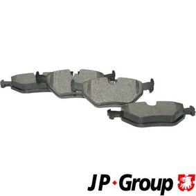 Bremsbelagsatz, Scheibenbremse Dicke/Stärke: 17,3mm mit OEM-Nummer 34211160340