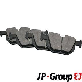 BMW E61 525d Bremsbeläge JP GROUP 1463700810 (525d Diesel 2005 M57 D25 (256D2))