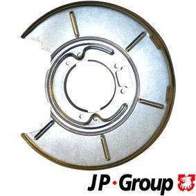 Accesorios y Piezas BMW 3 Coupé (E46) 318 Ci de Año 03.2005 150 CV: Chapa protectora contra salpicaduras, disco de freno (1464200170) para de JP GROUP