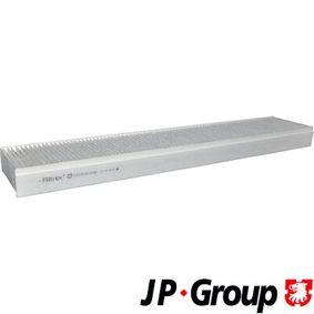 Filter, Innenraumluft Länge: 512mm, Breite: 105mm, Höhe: 35mm mit OEM-Nummer 3401 703