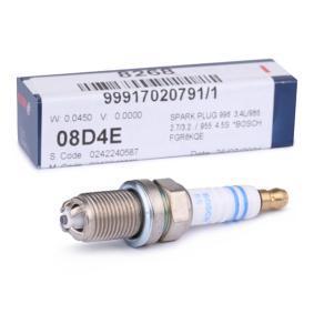 Запалителна свещ разст. м-ду електродите: 1,6мм, мярка на резбата: M14x1,25 с ОЕМ-номер 999 170 207 91