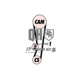 JP GROUP  4812100519 Zahnriemensatz Länge: 968mm, Breite: 21mm