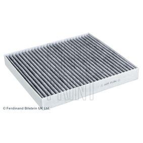 Filter, Innenraumluft Länge: 255mm, Breite: 235,0mm, Höhe: 30mm mit OEM-Nummer 5Q0819653+