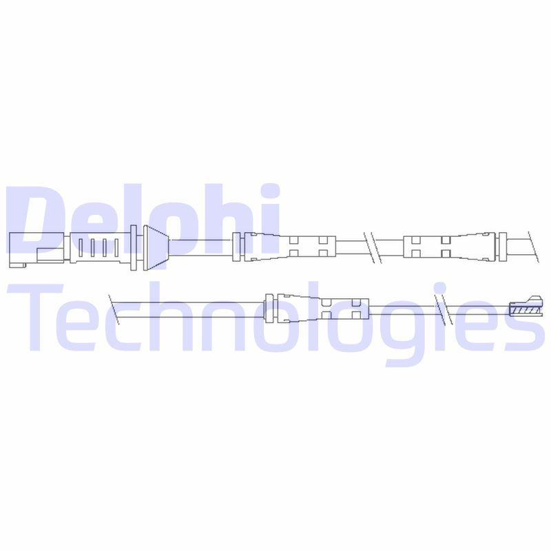 DELPHI  LZ0239 Warnkontaktsatz, Bremsbelagverschleiß