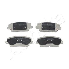 Bremsbelagsatz, Scheibenbremse Höhe: 60mm, Dicke/Stärke: 17mm mit OEM-Nummer 58101-2TA61