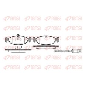 Комплект спирачно феродо, дискови спирачки 0393.22 Corsa B Хечбек (S93) 1.4i 16V (F08, F68, M68) Г.П. 1997