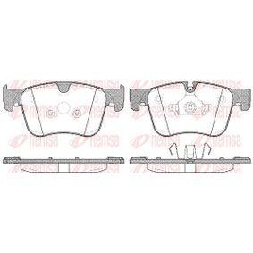REMSA  1560.00 Bremsbelagsatz, Scheibenbremse Höhe: 70,5mm, Dicke/Stärke: 17mm