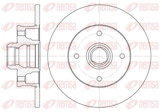 REMSA  6024.00 Bremsscheibe Bremsscheibendicke: 10mm, Lochanzahl: 4, Ø: 226mm, Ø: 226mm