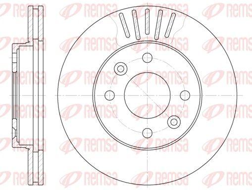 REMSA  6080.10 Bremsscheibe Bremsscheibendicke: 20mm, Lochanzahl: 4, Ø: 238mm, Ø: 238mm