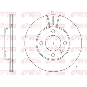 REMSA Brake disc kit Front Axle, Vented