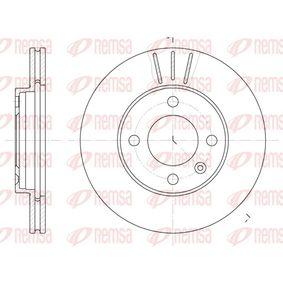 REMSA  6084.10 Bremsscheibe Bremsscheibendicke: 20mm, Lochanzahl: 4, Ø: 239mm