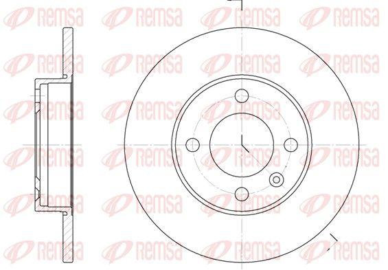 REMSA  6086.00 Bremsscheibe Bremsscheibendicke: 10mm, Lochanzahl: 4, Ø: 239mm