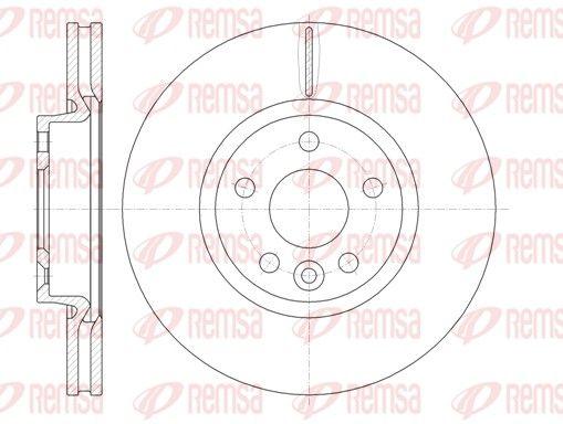 REMSA  61019.10 Bremsscheibe Bremsscheibendicke: 28mm, Lochanzahl: 5, Ø: 300mm, Ø: 300mm