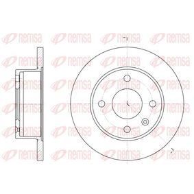 Bremsscheibe Bremsscheibendicke: 12,7mm, Lochanzahl: 4, Ø: 239,5mm mit OEM-Nummer 6100043