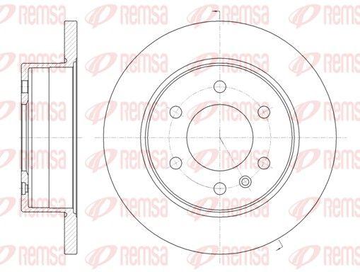 REMSA  61035.00 Bremsscheibe Bremsscheibendicke: 16mm, Lochanzahl: 6, Ø: 298mm, Ø: 298mm