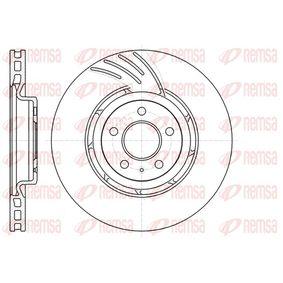 Brake Disc Brake Disc Thickness: 29,3mm, Num. of holes: 5, Ø: 344,7mm, Ø: 344,7mm with OEM Number 8K0 615 301 K